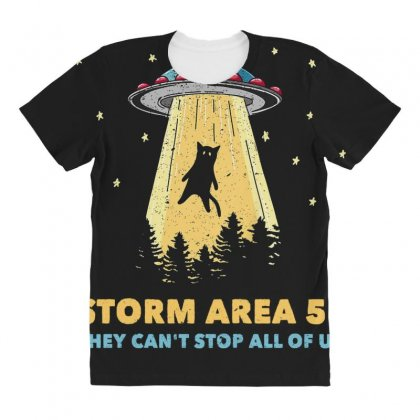 Storm Area 51 Vintage Funny Alien Abduction Ufo T Shirt All Over Women's T-shirt Designed By Cuser1744