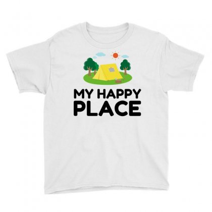 My Happy Place Camping Tent Youth Tee Designed By Perfect Designers