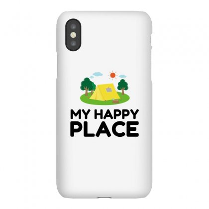 My Happy Place Camping Tent Iphonex Case Designed By Perfect Designers