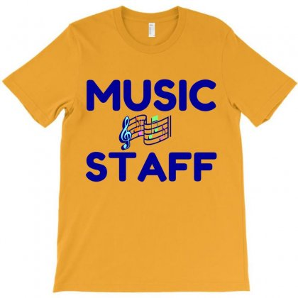 Music Staff T-shirt Designed By Perfect Designers