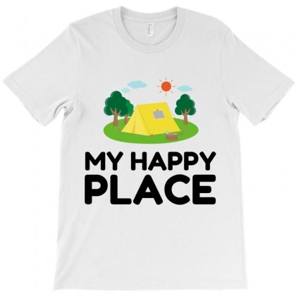 My Happy Place Camping Tent T-shirt Designed By Perfect Designers
