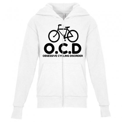 Obsessive Cycling Disorder Youth Zipper Hoodie Designed By Perfect Designers