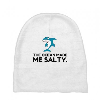 Ocean Made Me Salty Shark Baby Beanies Designed By Perfect Designers