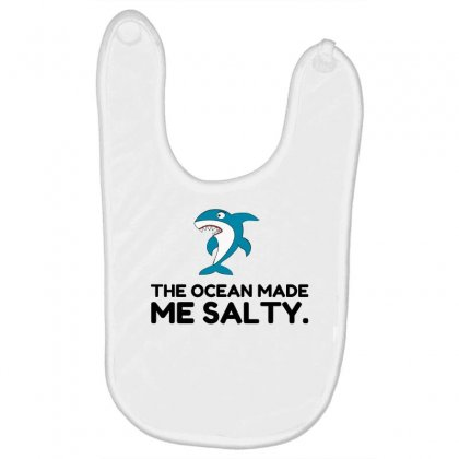 Ocean Made Me Salty Shark Baby Bibs Designed By Perfect Designers