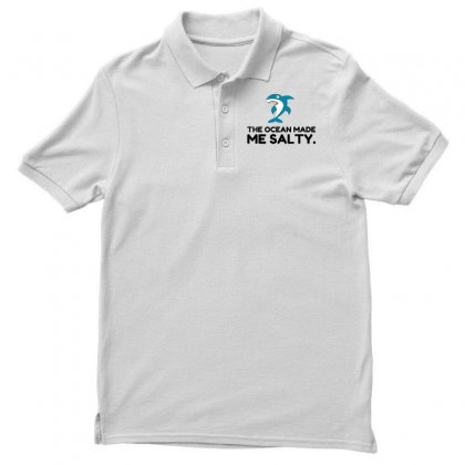 Ocean Made Me Salty Shark Polo Shirt Designed By Perfect Designers