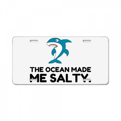 Ocean Made Me Salty Shark License Plate Designed By Perfect Designers
