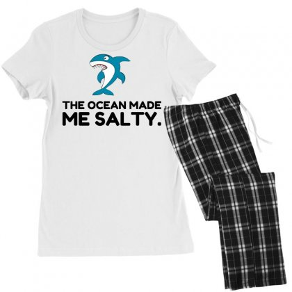 Ocean Made Me Salty Shark Women's Pajamas Set Designed By Perfect Designers