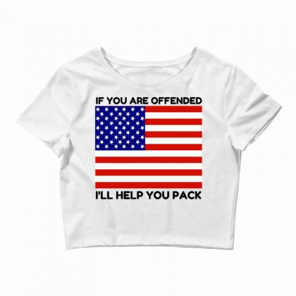 Offended Help You Pack  Usa Flag Crop Top Designed By Perfect Designers