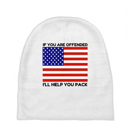 Offended Help You Pack  Usa Flag Baby Beanies Designed By Perfect Designers