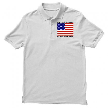 Offended Help You Pack  Usa Flag Polo Shirt Designed By Perfect Designers