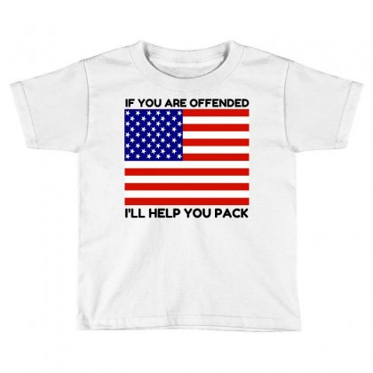 Offended Help You Pack  Usa Flag Toddler T-shirt Designed By Perfect Designers