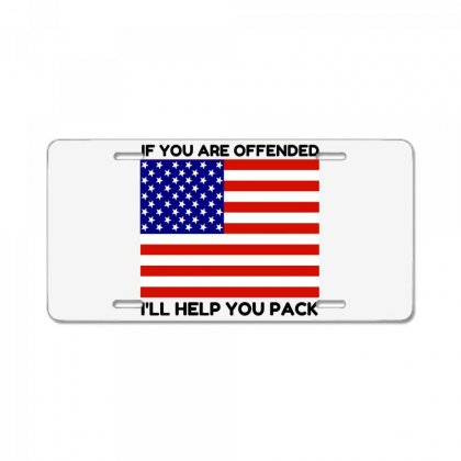 Offended Help You Pack  Usa Flag License Plate Designed By Perfect Designers