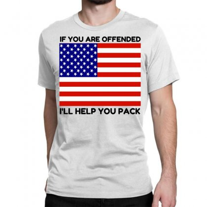 Offended Help You Pack  Usa Flag Classic T-shirt Designed By Perfect Designers