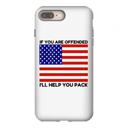 Offended Help You Pack  Usa Flag Iphone 8 Plus Case Designed By Perfect Designers