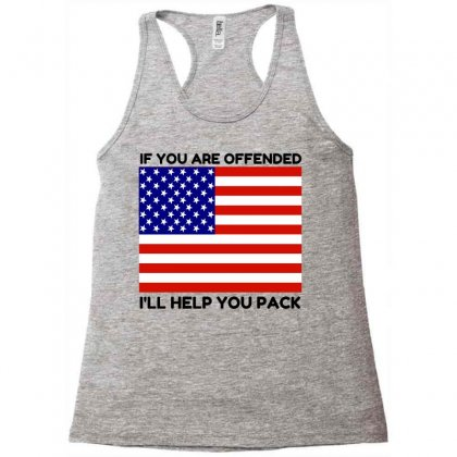 Offended Help You Pack  Usa Flag Racerback Tank Designed By Perfect Designers