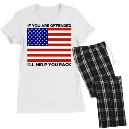 Offended Help You Pack  Usa Flag Women's Pajamas Set Designed By Perfect Designers