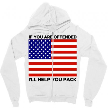 Offended Help You Pack  Usa Flag Zipper Hoodie Designed By Perfect Designers