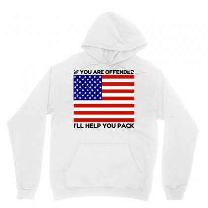 Offended Help You Pack  Usa Flag Unisex Hoodie Designed By Perfect Designers