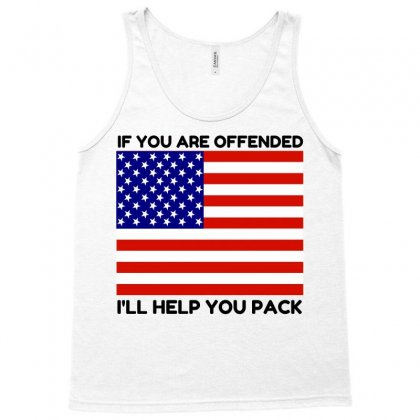 Offended Help You Pack  Usa Flag Tank Top Designed By Perfect Designers