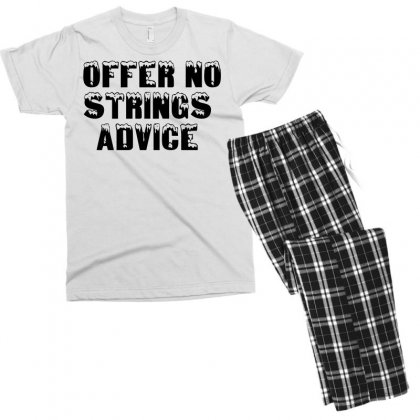 Offer No Strings Advice Men's T-shirt Pajama Set Designed By Perfect Designers