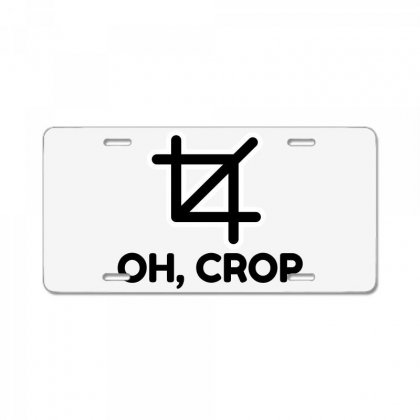 Oh Crop License Plate Designed By Perfect Designers