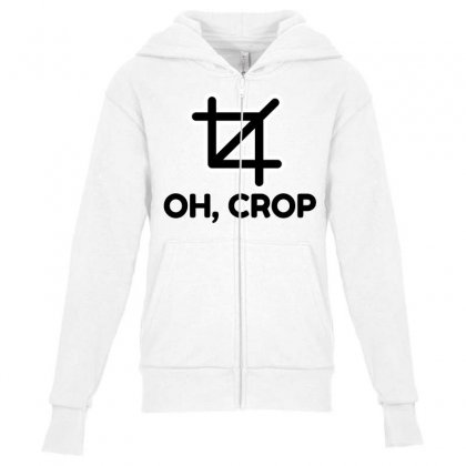 Oh Crop Youth Zipper Hoodie Designed By Perfect Designers