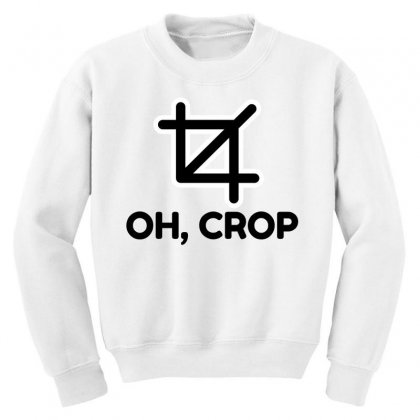 Oh Crop Youth Sweatshirt Designed By Perfect Designers