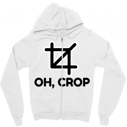 Oh Crop Zipper Hoodie Designed By Perfect Designers