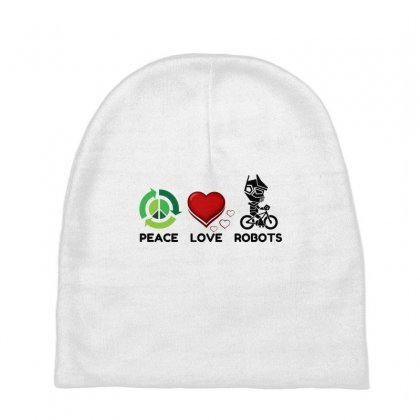 Peace Love Robots Baby Beanies Designed By Perfect Designers