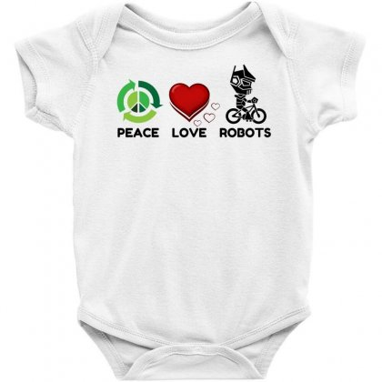 Peace Love Robots Baby Bodysuit Designed By Perfect Designers