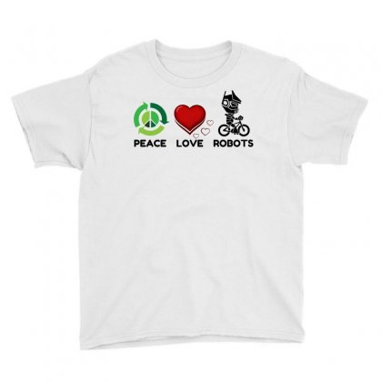 Peace Love Robots Youth Tee Designed By Perfect Designers