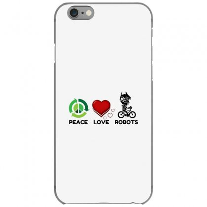 Peace Love Robots Iphone 6/6s Case Designed By Perfect Designers