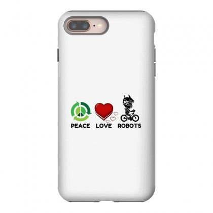 Peace Love Robots Iphone 8 Plus Case Designed By Perfect Designers