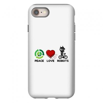 Peace Love Robots Iphone 8 Case Designed By Perfect Designers