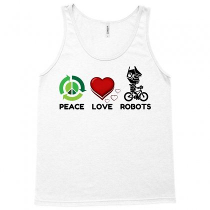 Peace Love Robots Tank Top Designed By Perfect Designers