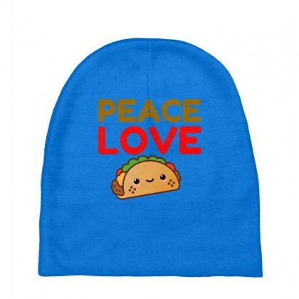 Peace Love Taco Baby Beanies Designed By Perfect Designers