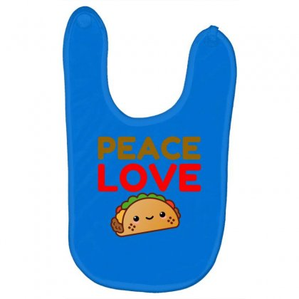 Peace Love Taco Baby Bibs Designed By Perfect Designers