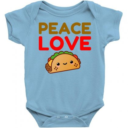 Peace Love Taco Baby Bodysuit Designed By Perfect Designers
