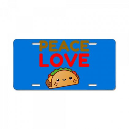 Peace Love Taco License Plate Designed By Perfect Designers