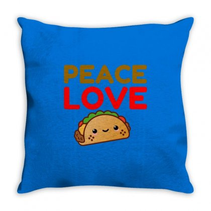 Peace Love Taco Throw Pillow Designed By Perfect Designers