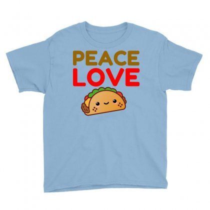 Peace Love Taco Youth Tee Designed By Perfect Designers