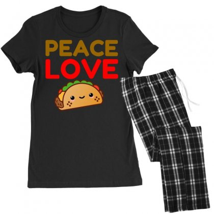 Peace Love Taco Women's Pajamas Set Designed By Perfect Designers