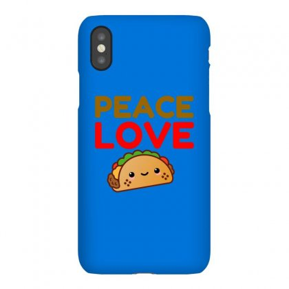 Peace Love Taco Iphonex Case Designed By Perfect Designers