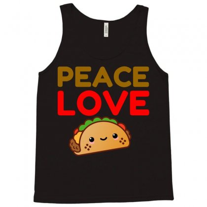 Peace Love Taco Tank Top Designed By Perfect Designers