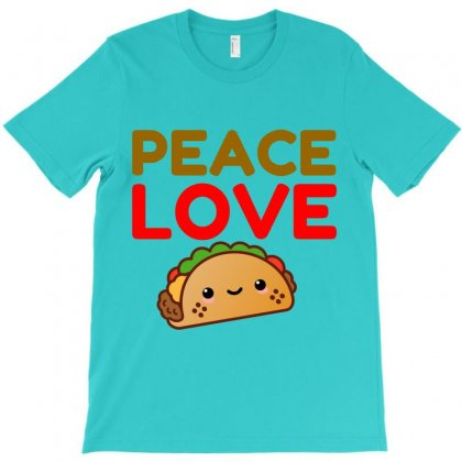 Peace Love Taco T-shirt Designed By Perfect Designers