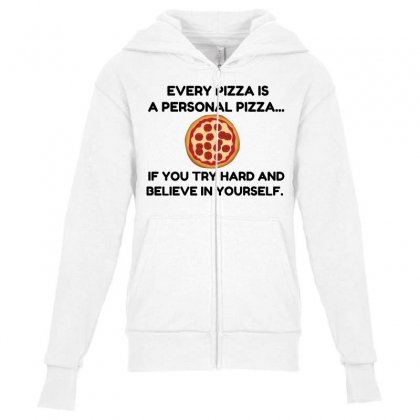 Personal Pizza Youth Zipper Hoodie Designed By Perfect Designers