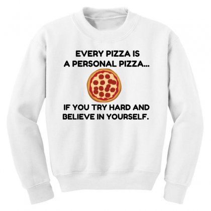 Personal Pizza Youth Sweatshirt Designed By Perfect Designers