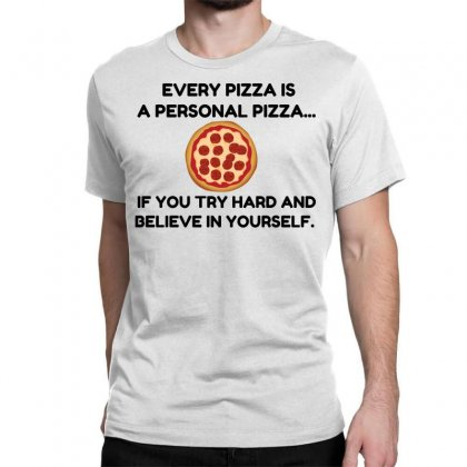 Personal Pizza Classic T-shirt Designed By Perfect Designers