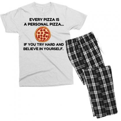 Personal Pizza Men's T-shirt Pajama Set Designed By Perfect Designers