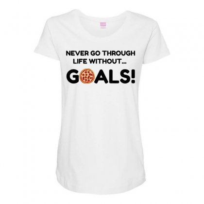 Pizza Goals Maternity Scoop Neck T-shirt Designed By Perfect Designers